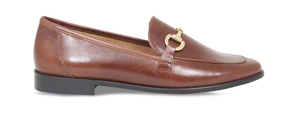 Comfortable designer loafer made with soft luxury leather by Lisa Kay London