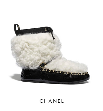 Chanel Shearling Winter Boots