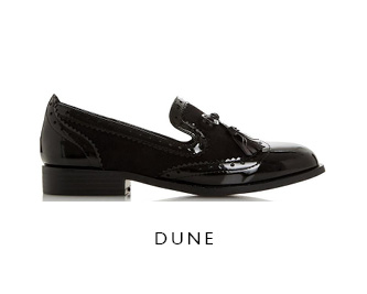 Dune Patent Leather Loafers