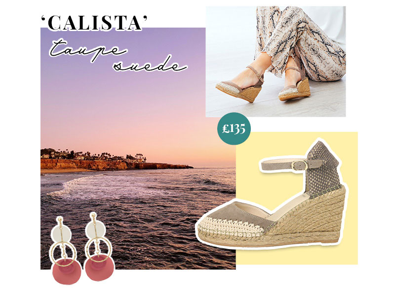 Closed-toe, Woven Detailing Espadrille Wedge from Lisa Kay