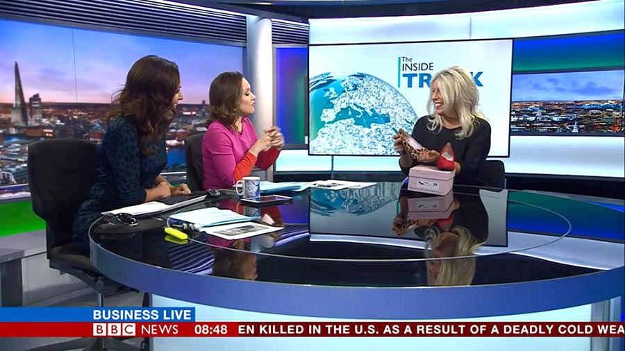 British shoe designer Lisa Kay about her innovative Sole Bliss shoes for bunions on BBC Business News